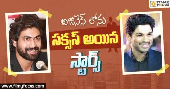 Tollywood Star Heros Who Are Also Successful Entrepreneurs