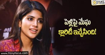 Megha Akash gives clarity on marriage